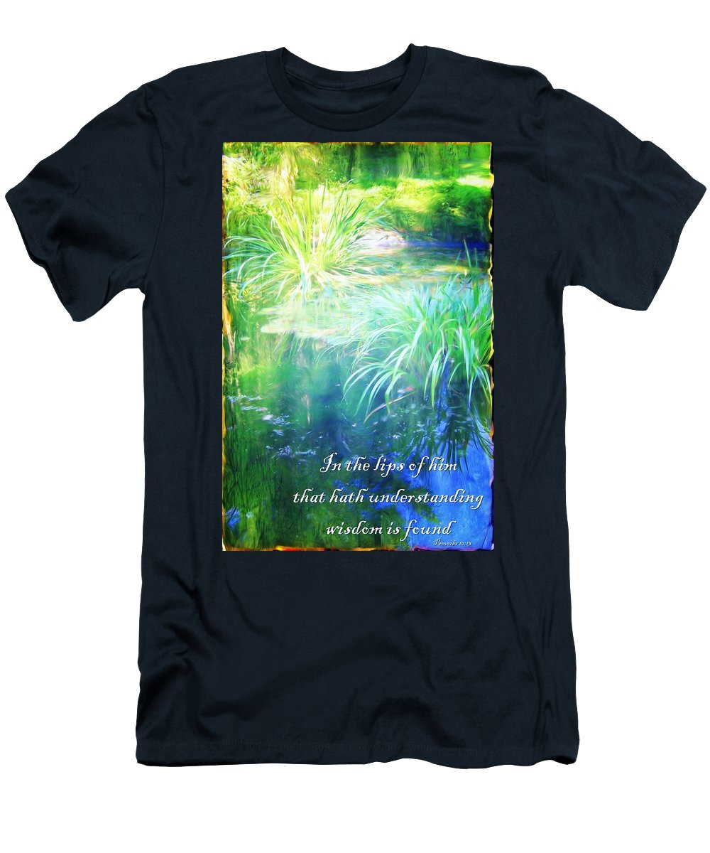 Jesus Men's T-Shirt (Athletic Fit) featuring the digital art Proverbs 10 13 by Michelle Greene Wheeler