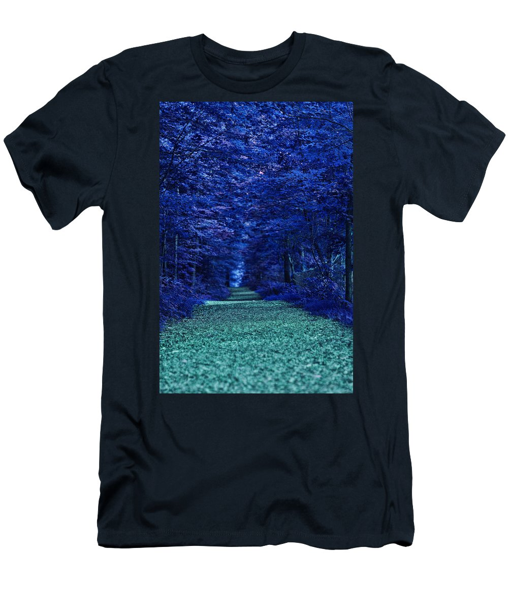 Nature Men's T-Shirt (Athletic Fit) featuring the photograph Purple Nature by Tina Baxter
