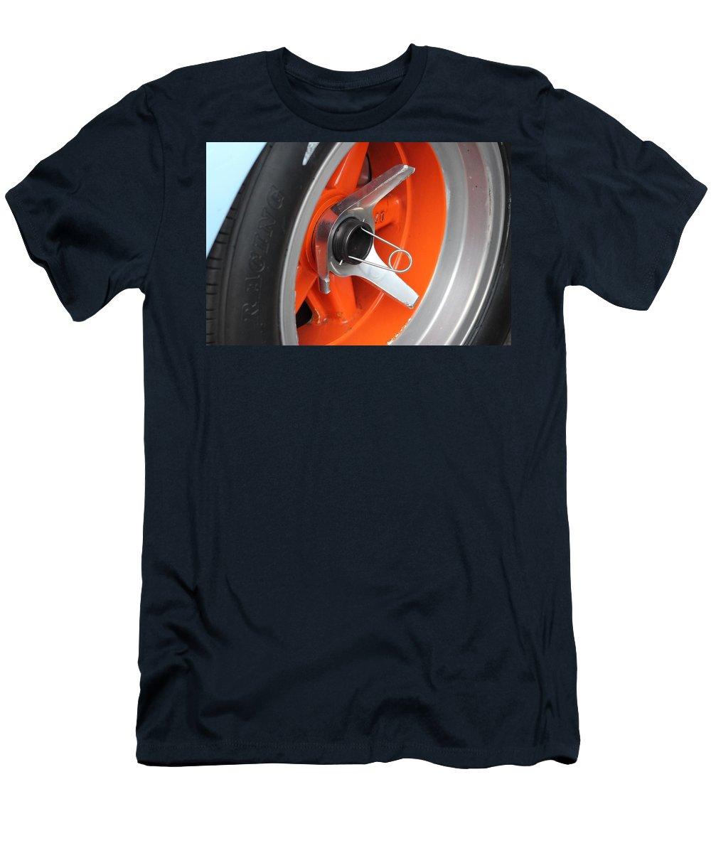 Motor Racing Men's T-Shirt (Athletic Fit) featuring the photograph Racing by Robert Phelan