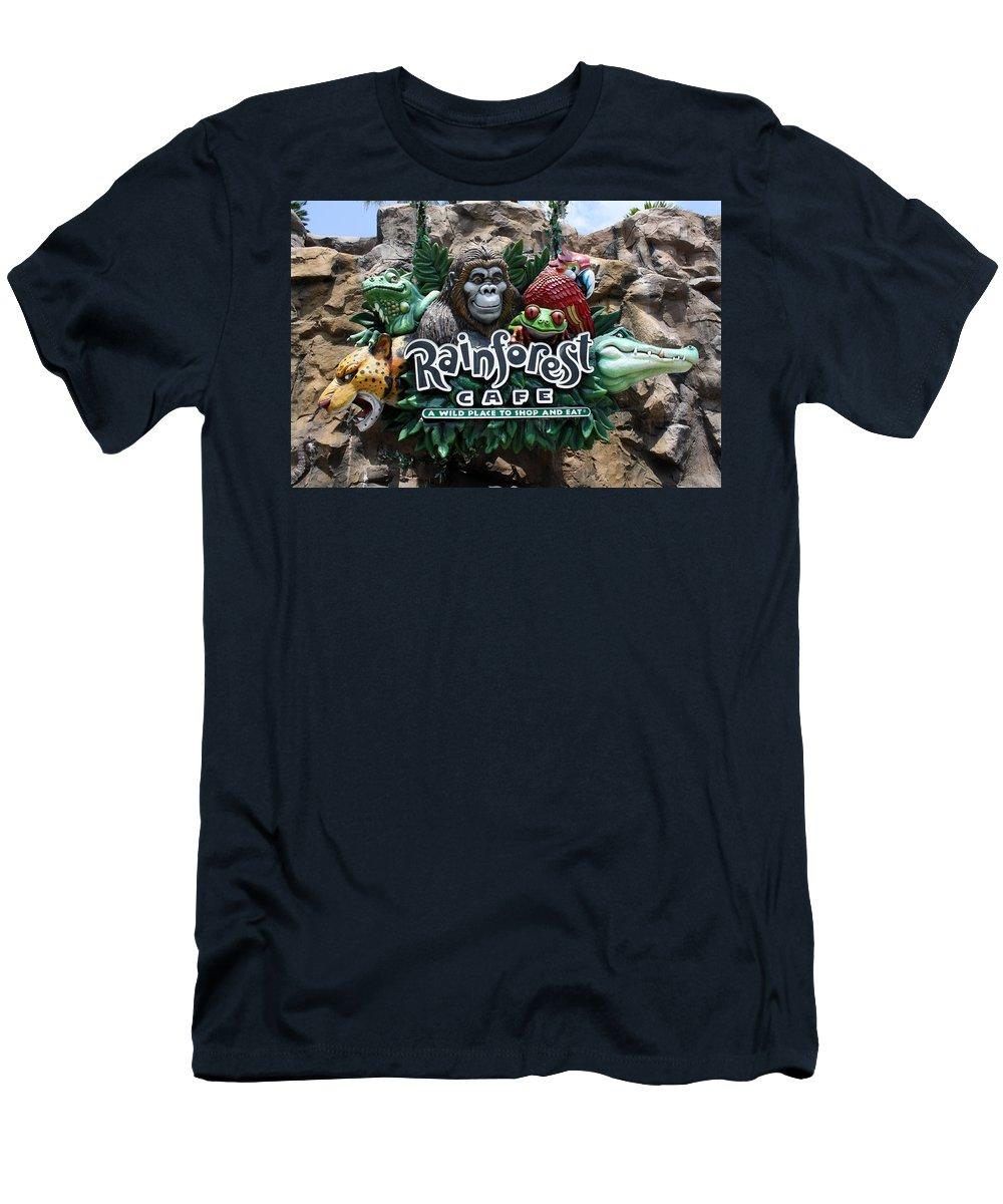 Rainforest Cafe Men's T-Shirt (Athletic Fit) featuring the photograph Rainforest by David Nicholls