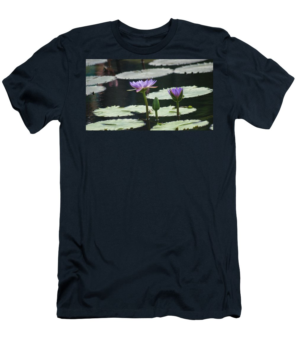Purple Men's T-Shirt (Athletic Fit) featuring the photograph Raised Above... by Rob Luzier