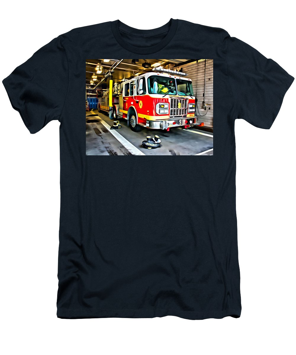 Firetruck Men's T-Shirt (Athletic Fit) featuring the photograph Ready For Anything by Alice Gipson