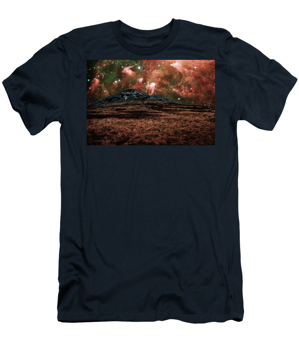 Carina Nebula Men's T-Shirt (Athletic Fit) featuring the photograph Red Planet by Semmick Photo