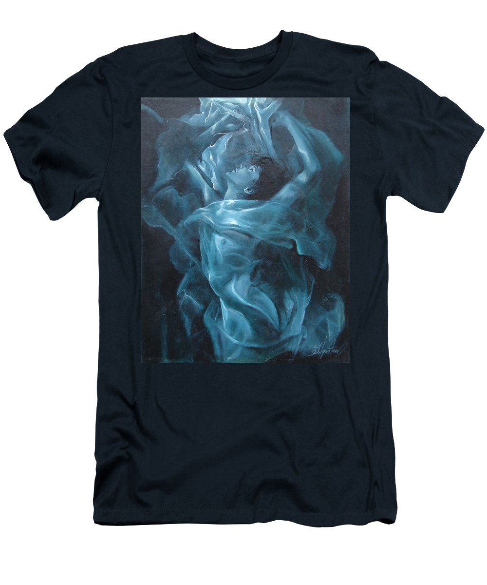 Oil T-Shirt featuring the painting Reincarnation by Sergey Ignatenko