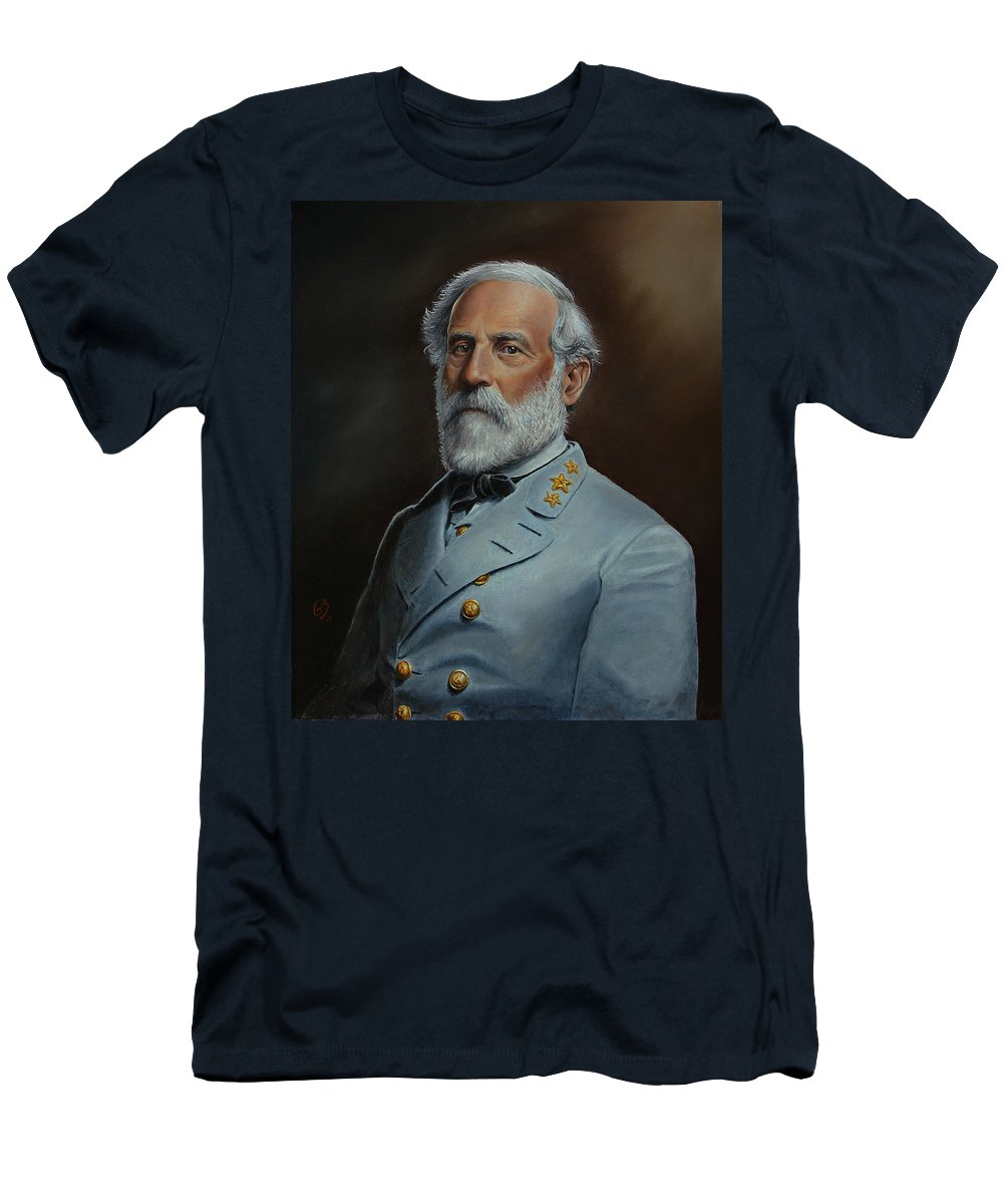 Portrait T-Shirt featuring the painting Robert E. Lee by Glenn Beasley