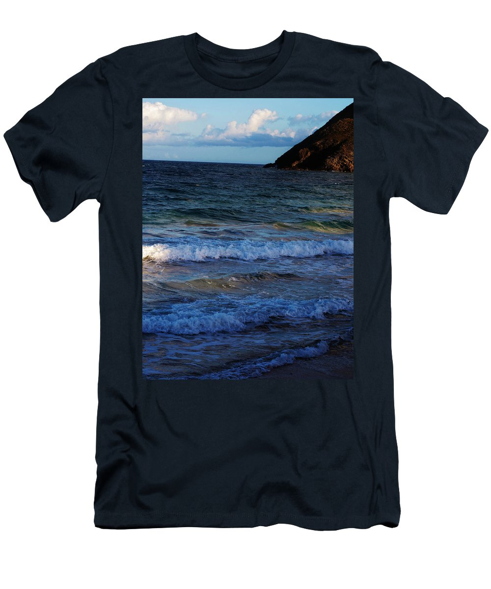 Ocean Men's T-Shirt (Athletic Fit) featuring the photograph Rolling In by Ian MacDonald
