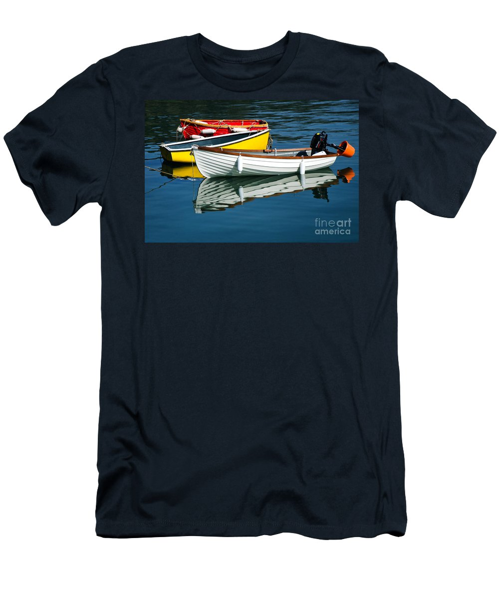 Row Boats Men's T-Shirt (Athletic Fit) featuring the photograph Row-boats by Susie Peek