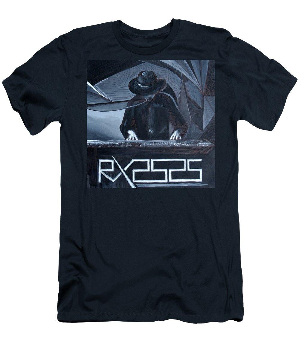 Robert X Men's T-Shirt (Athletic Fit) featuring the painting Rx2525 by Kate Fortin