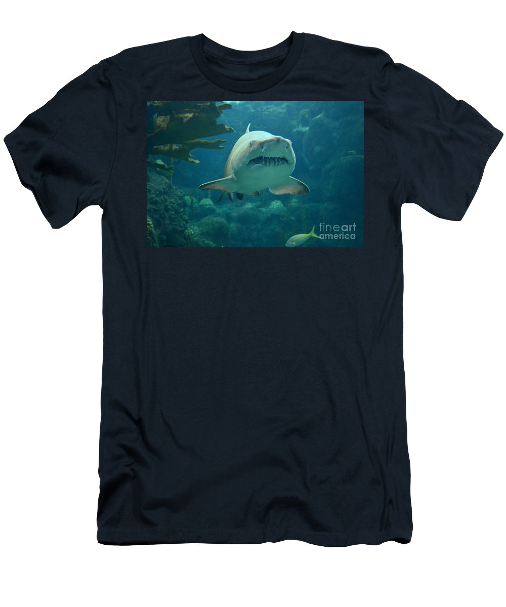 Sand Shark Men's T-Shirt (Athletic Fit) featuring the photograph Sand Shark by Robert Meanor