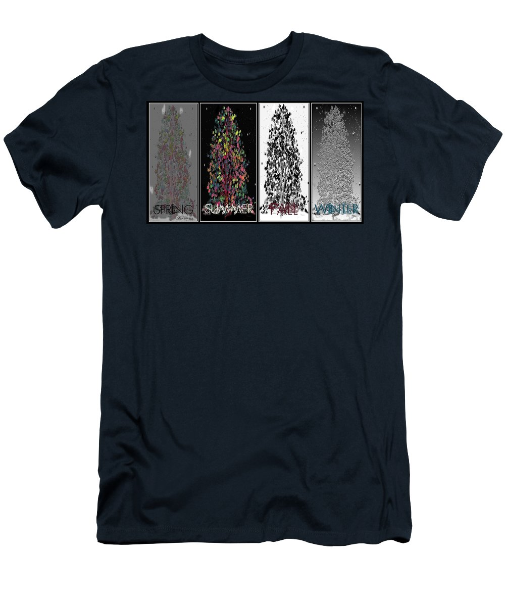 Spring Men's T-Shirt (Athletic Fit) featuring the digital art Seasons by Ericamaxine Price