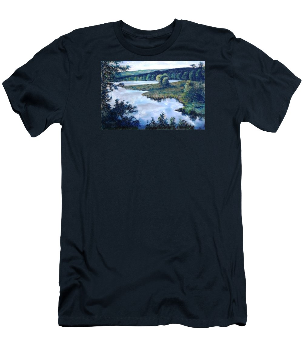 North Salem New York Men's T-Shirt (Athletic Fit) featuring the painting Serenity by Vincent Mancuso
