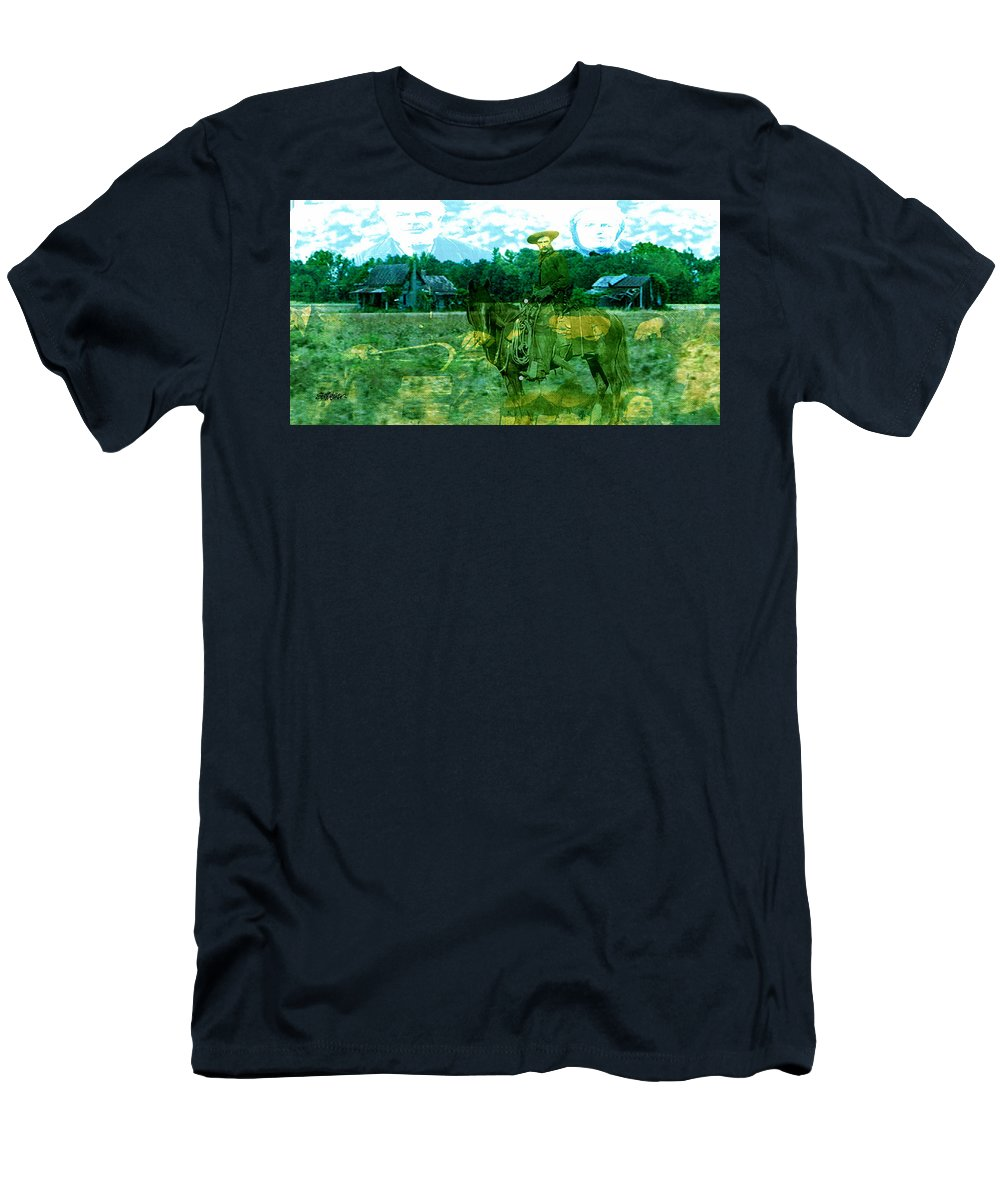 Shadow On The Land T-Shirt featuring the digital art Shadows On The Land by Seth Weaver