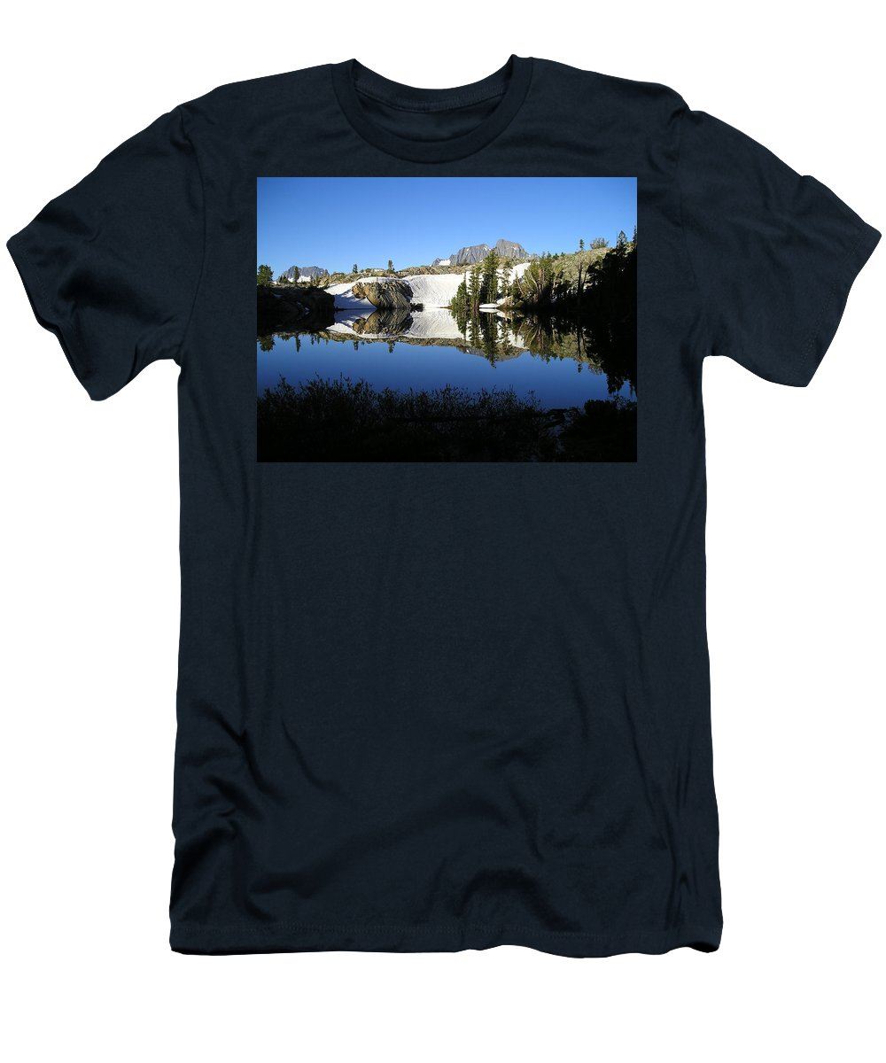 Landscape Men's T-Shirt (Athletic Fit) featuring the photograph Sierra Reflection I by Nathan Shegrud