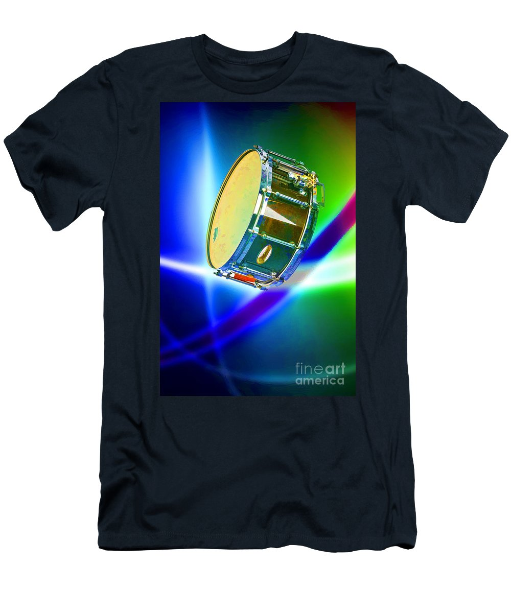 Snare Drum T-Shirt featuring the photograph Snare Drum for drum set Painting in Color 3239.02 by M K Miller