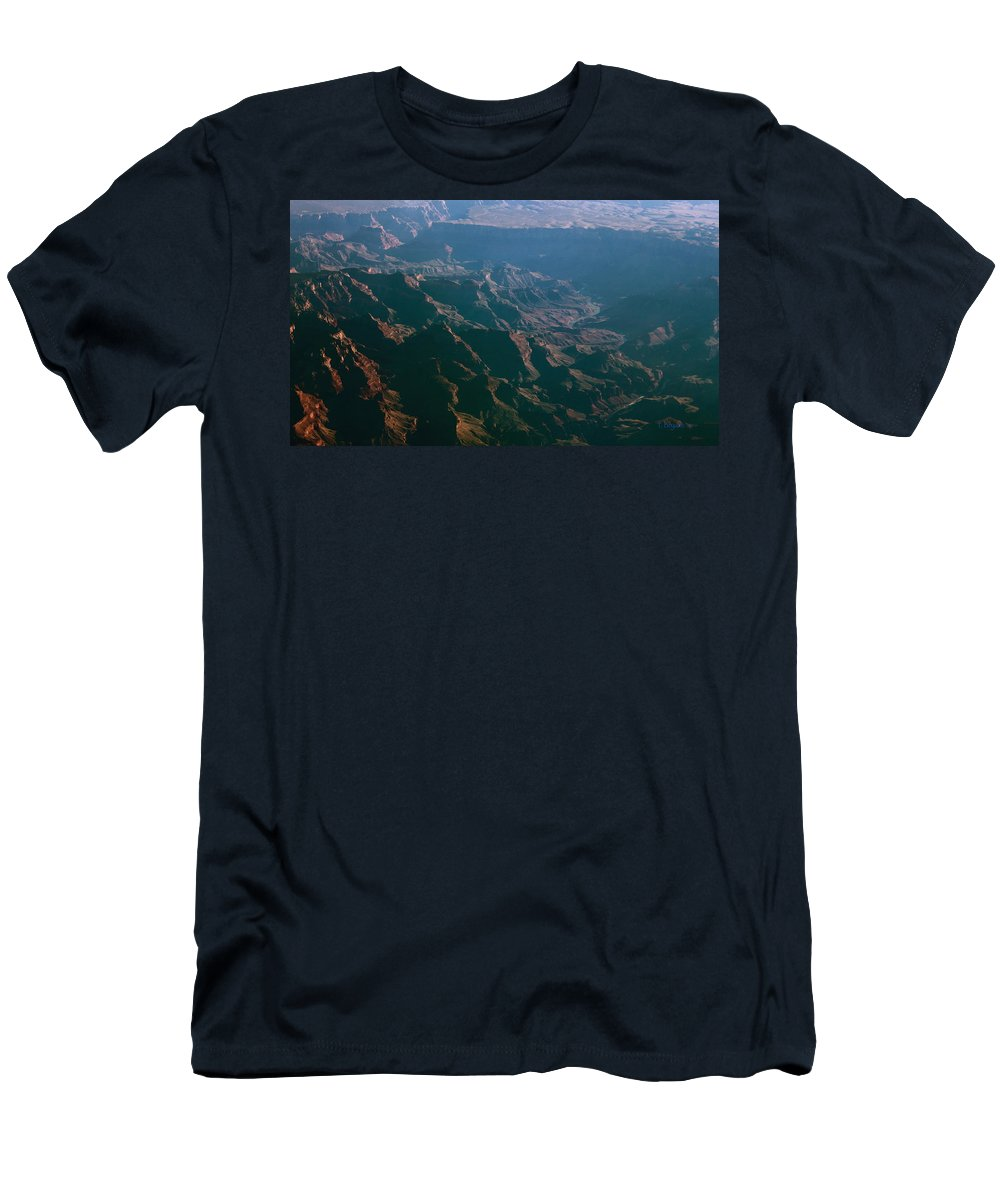Rocky Men's T-Shirt (Athletic Fit) featuring the photograph Soft Early Morning Light Over The Grand Canyon 4 by Kume Bryant