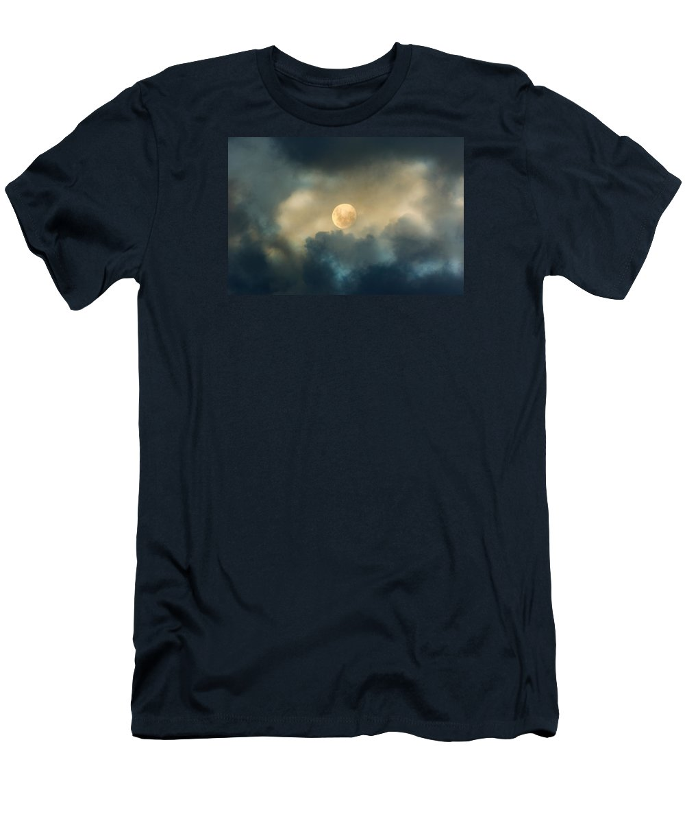 Moon Men's T-Shirt (Athletic Fit) featuring the photograph Song To The Moon by Georgiana Romanovna
