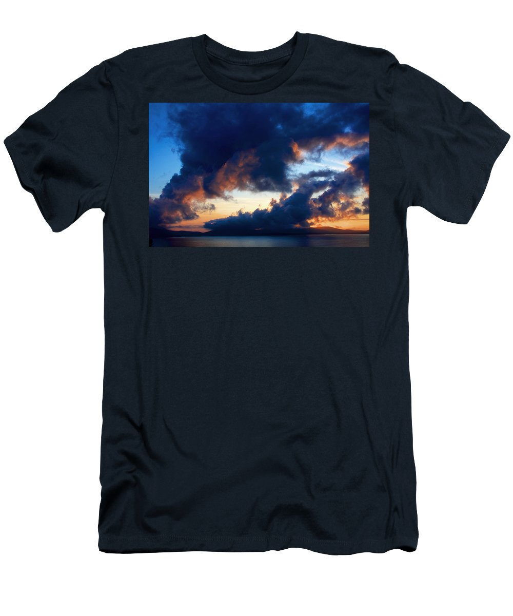 Ireland Men's T-Shirt (Athletic Fit) featuring the photograph Spiral Clouds by Aidan Moran