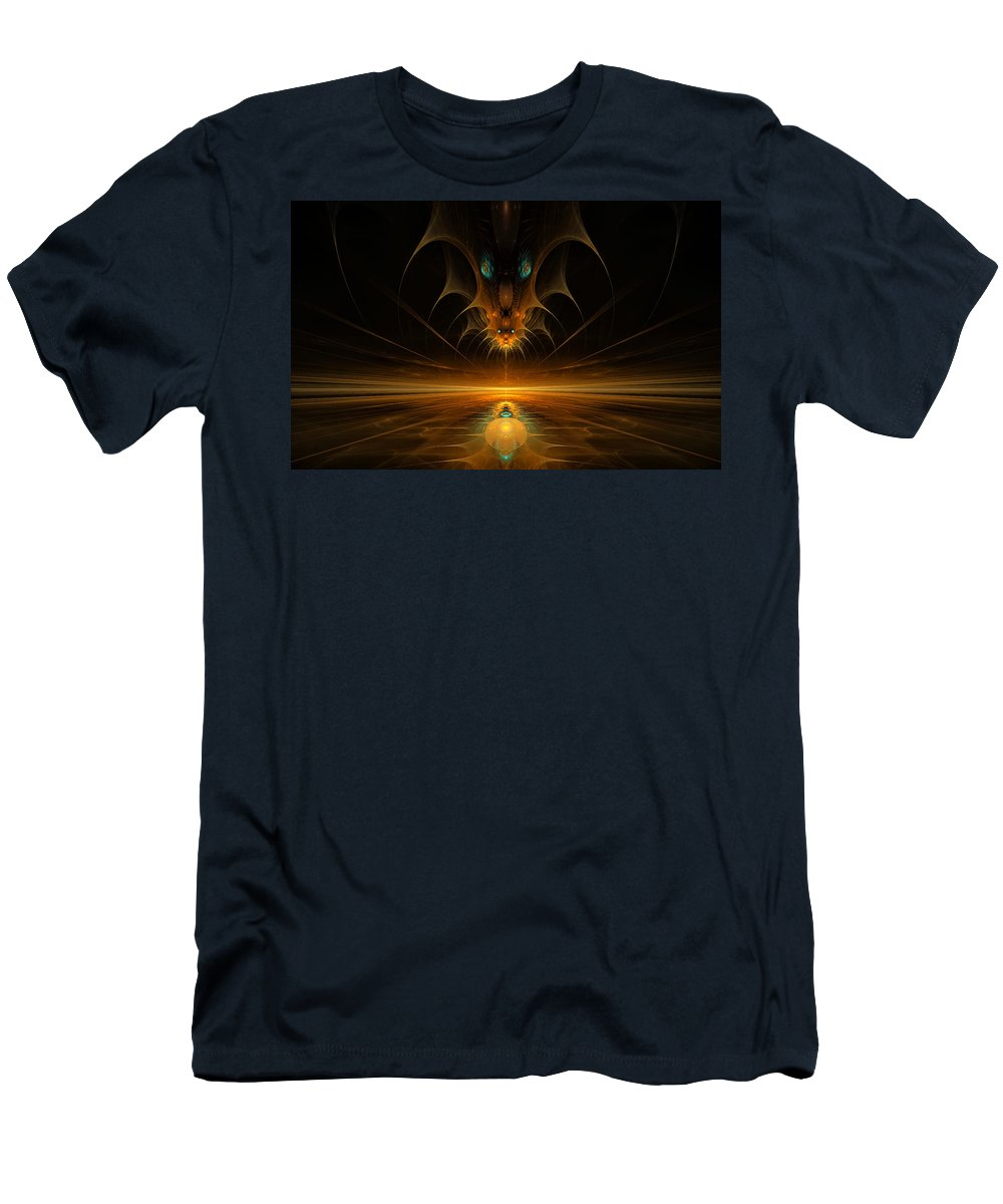 Digital Men's T-Shirt (Athletic Fit) featuring the digital art Spirit In The Sky by GJ Blackman