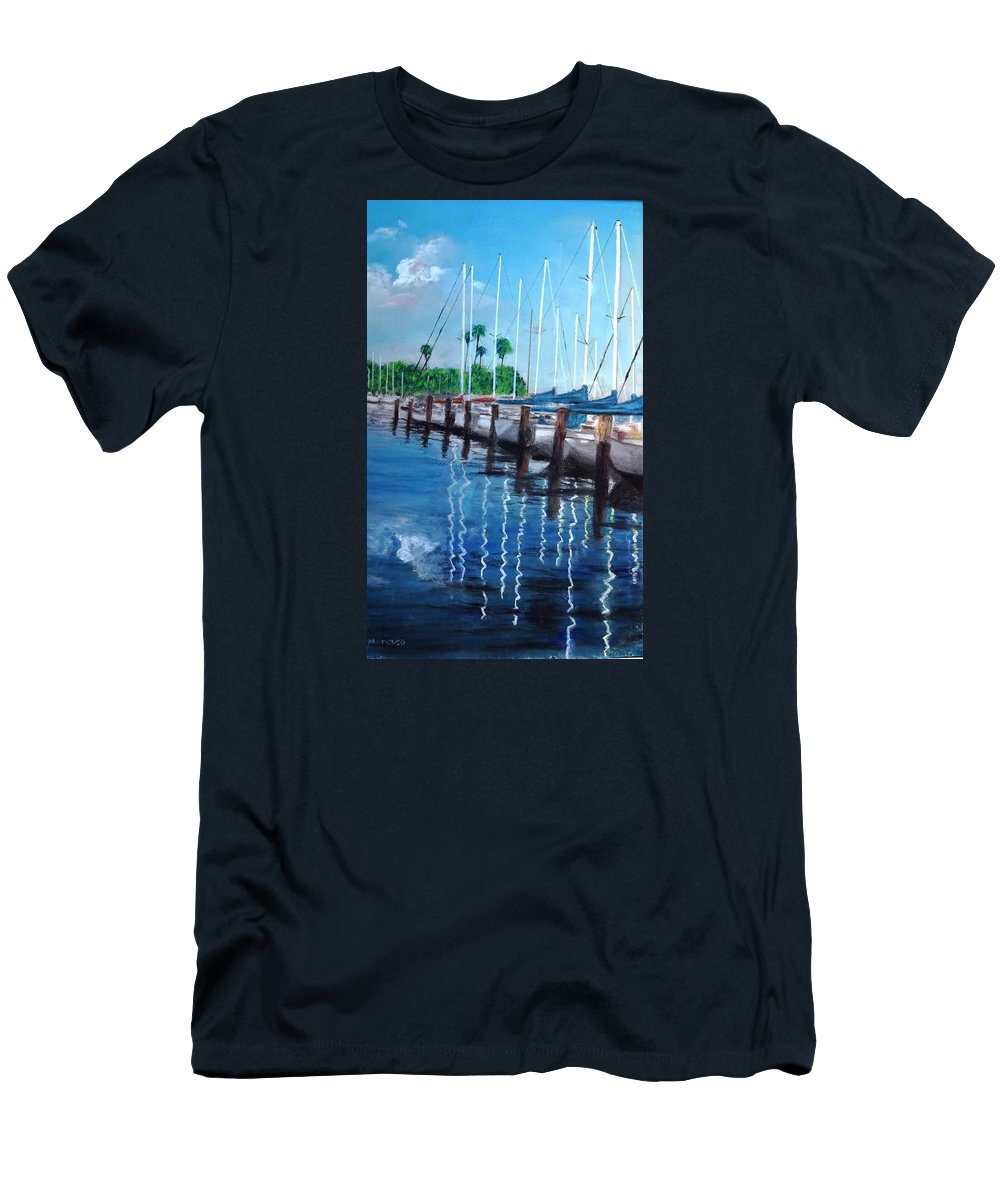St. Petersburg Men's T-Shirt (Athletic Fit) featuring the painting St. Petersburg Marina by Vincent Mancuso