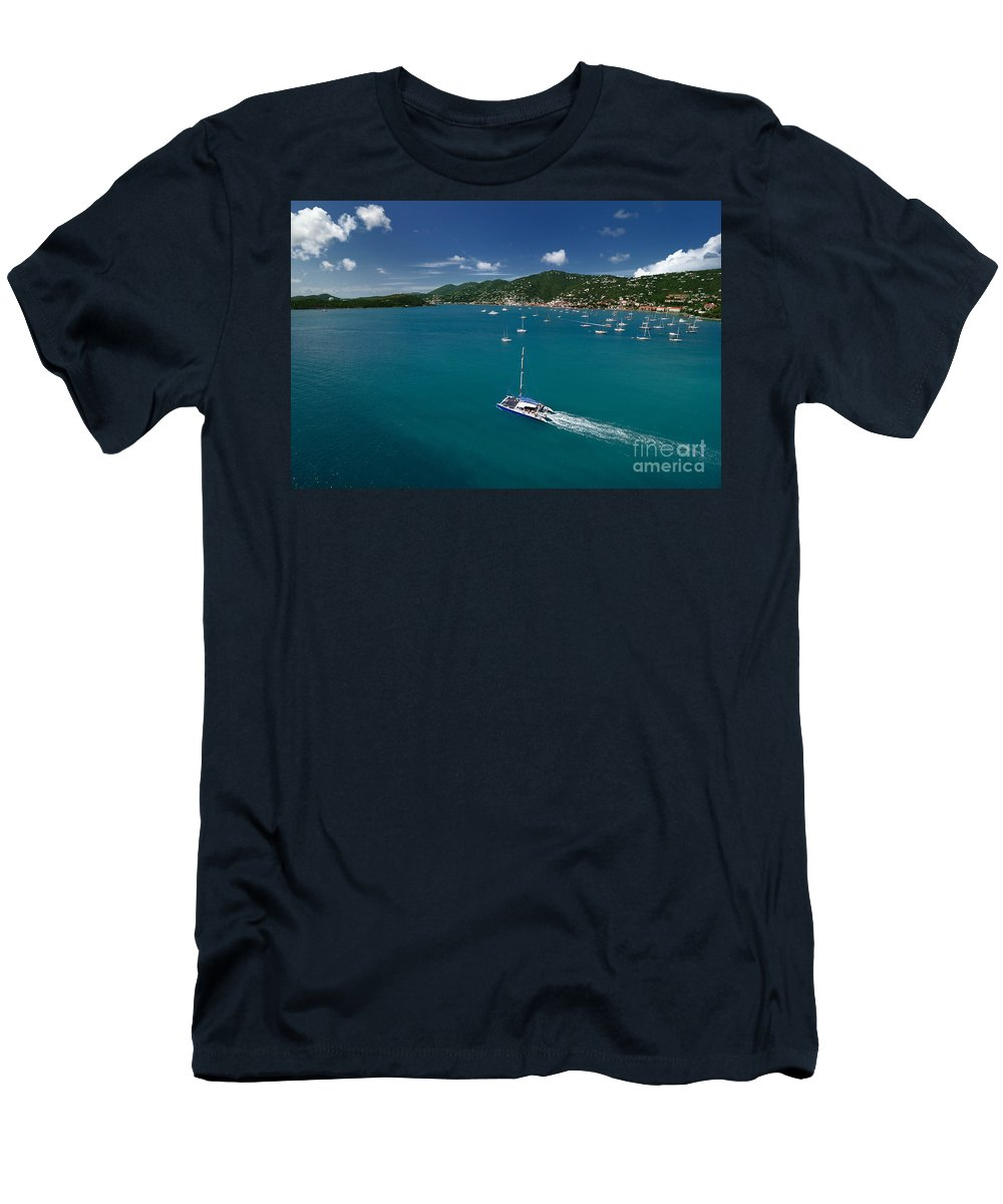 Azure Men's T-Shirt (Athletic Fit) featuring the photograph St Thomas Usvi by Amy Cicconi
