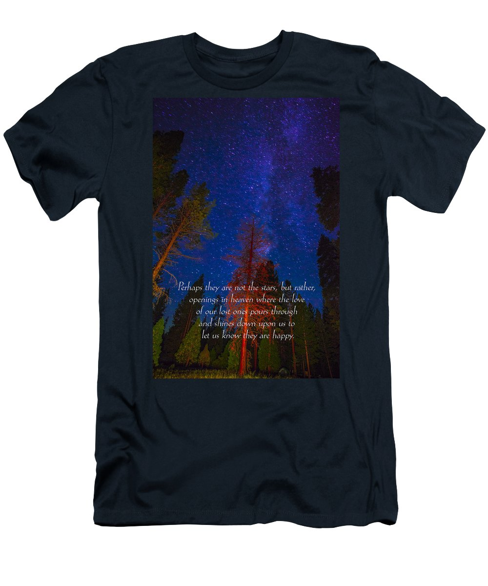 Inspirational Greeting Cards Grieving Note Cards Men's T-Shirt (Athletic Fit) featuring the photograph Stars Light Star Bright Fine Art Photography Prints And Inspirational Note Cards by Jerry Cowart