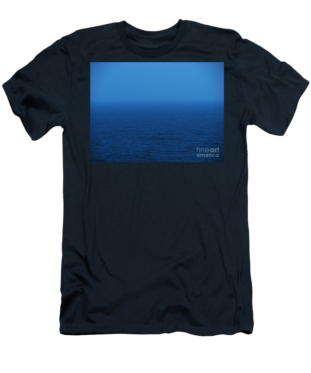 Blue Men's T-Shirt (Athletic Fit) featuring the photograph Stepping Into A Dream by Amanda Barcon