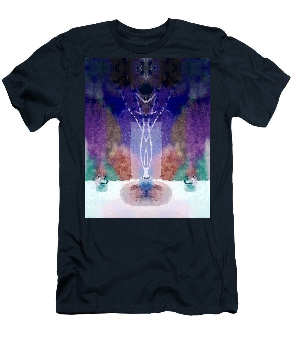 Silence Men's T-Shirt (Athletic Fit) featuring the digital art Still Moments 2 by Tina Vaughn