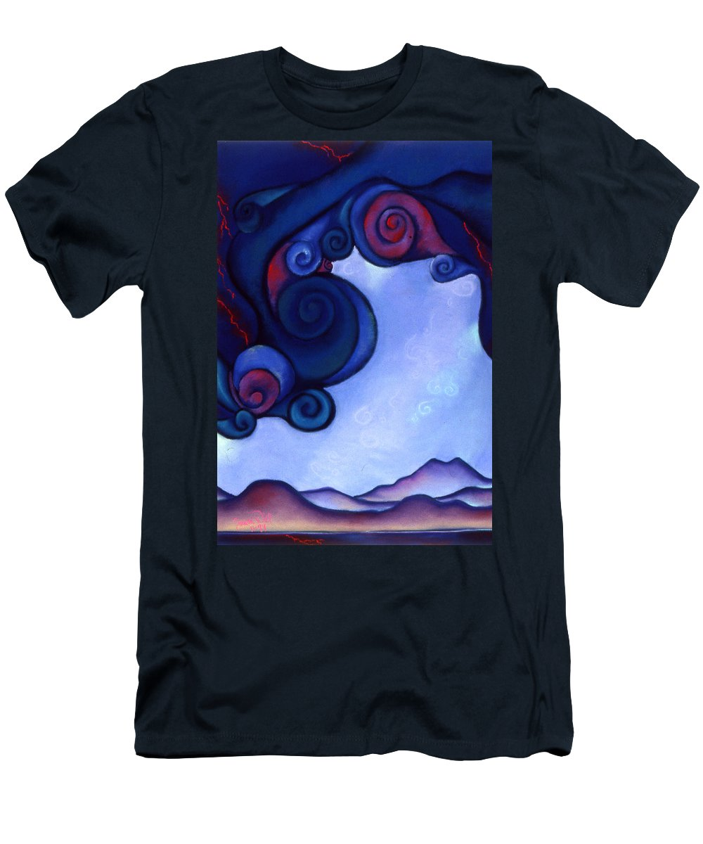 Storm Men's T-Shirt (Athletic Fit) featuring the pastel Stormy by Susan Will