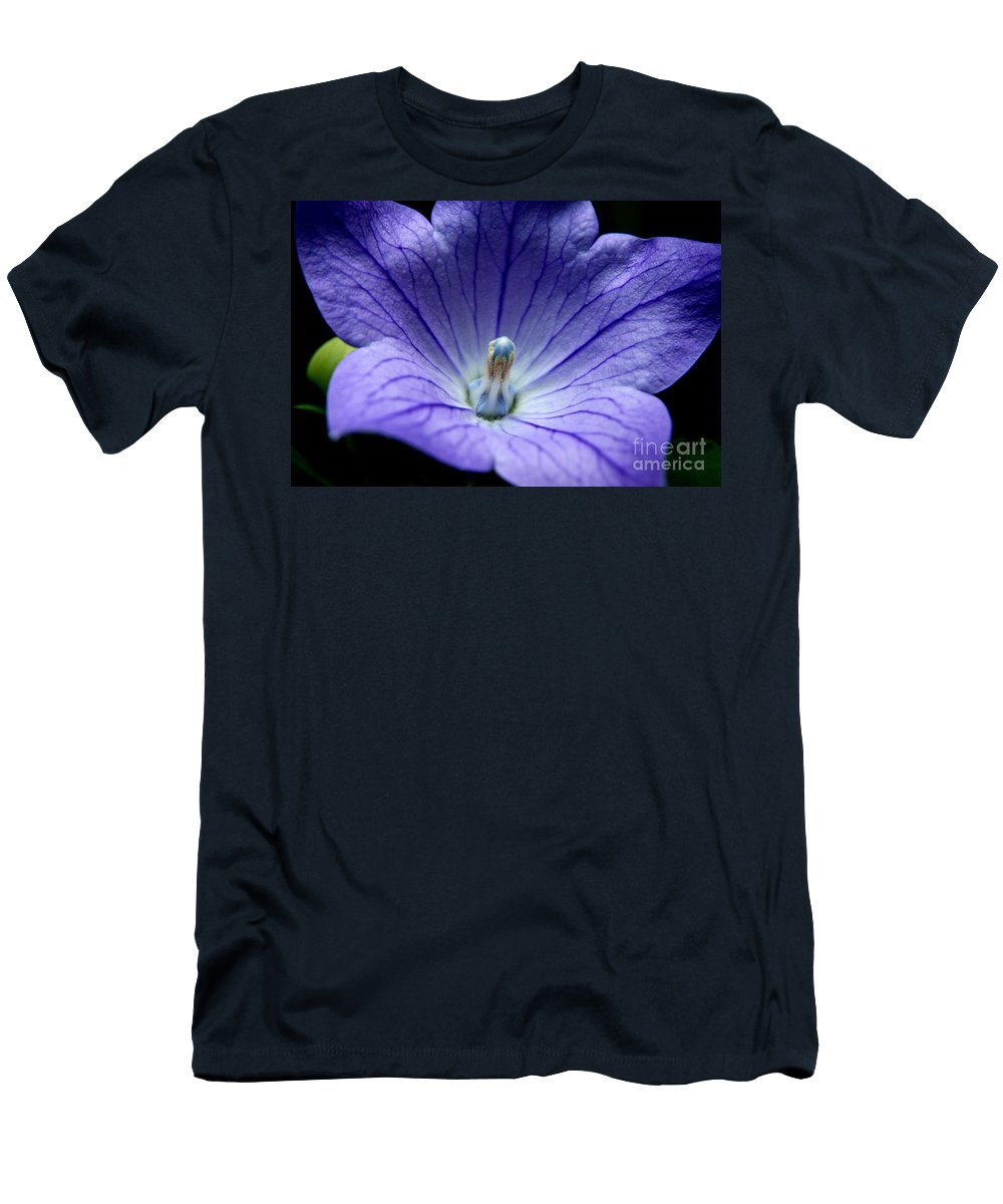 Blue Flower Men's T-Shirt (Athletic Fit) featuring the photograph Floral Summer Sensation by Neal Eslinger
