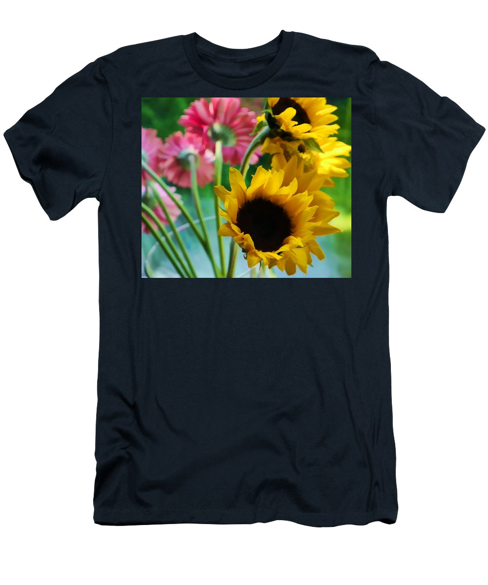 Floral Men's T-Shirt (Athletic Fit) featuring the photograph Summer's End Xiii by Tina Baxter