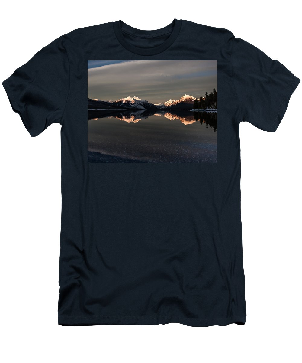 Mountain Men's T-Shirt (Athletic Fit) featuring the photograph Sunset Peaks by Aaron Aldrich