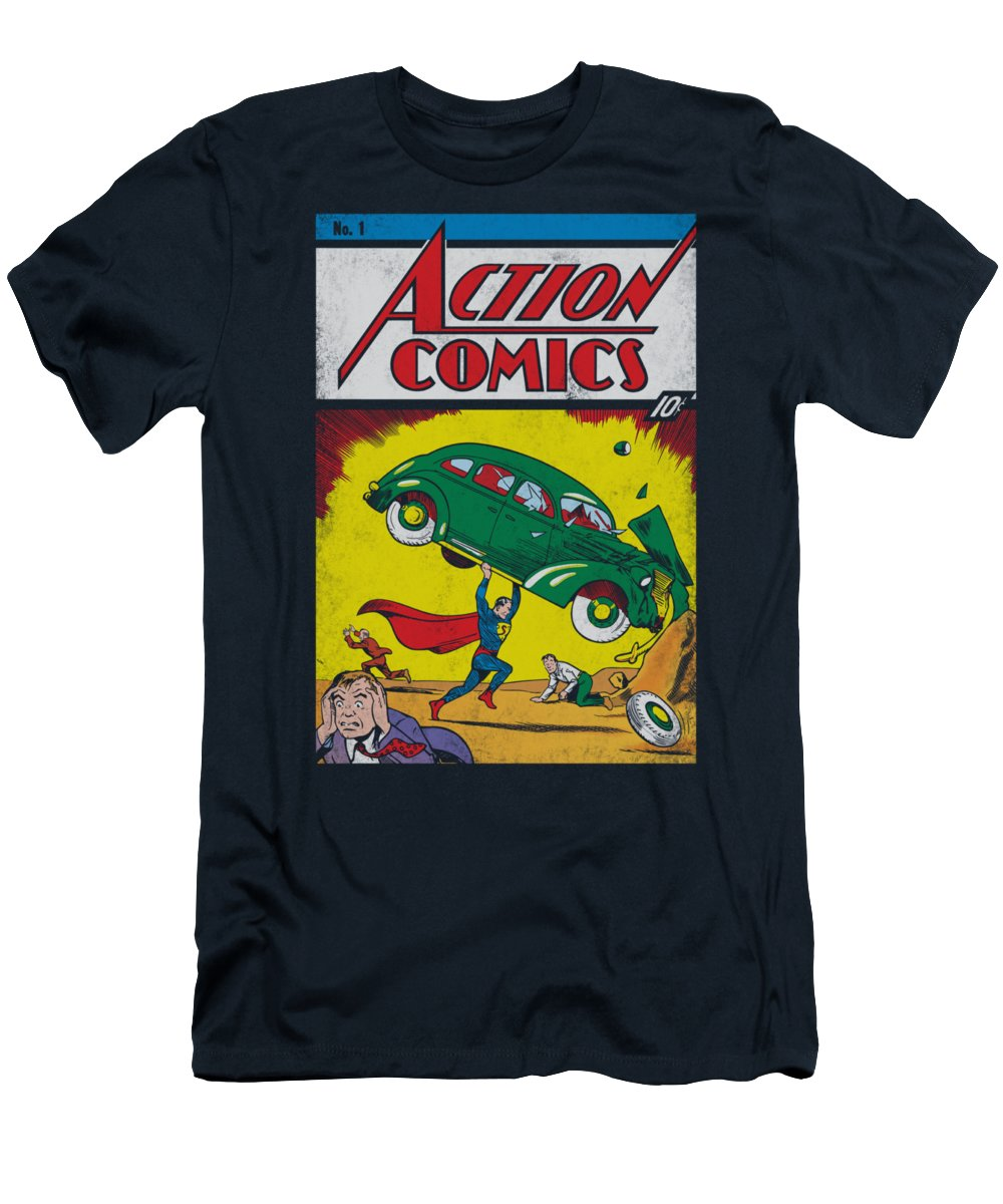 Superman T-Shirt featuring the digital art Superman - Action No. 1 by Brand A