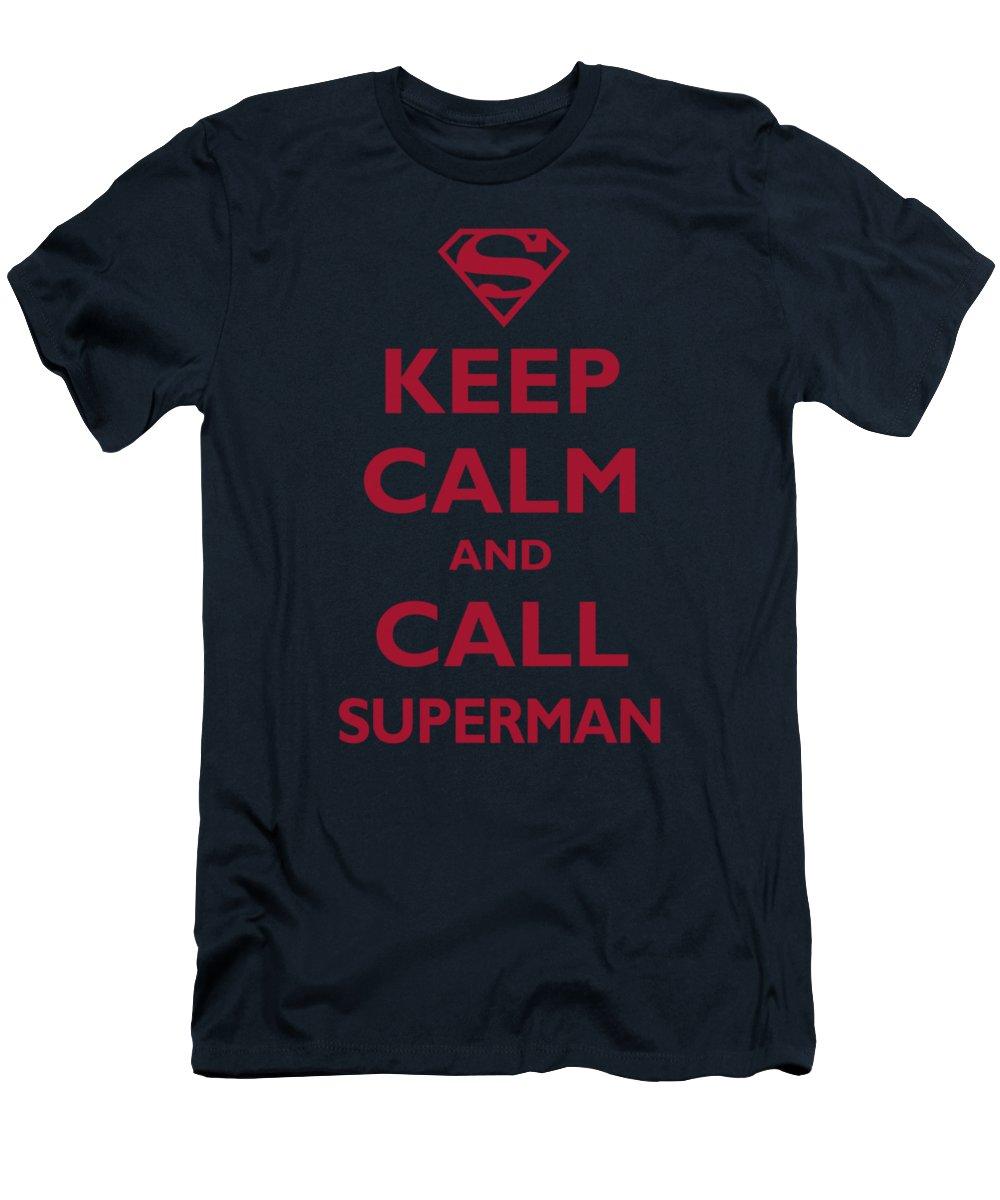 Superman T-Shirt featuring the digital art Superman - Call Superman by Brand A