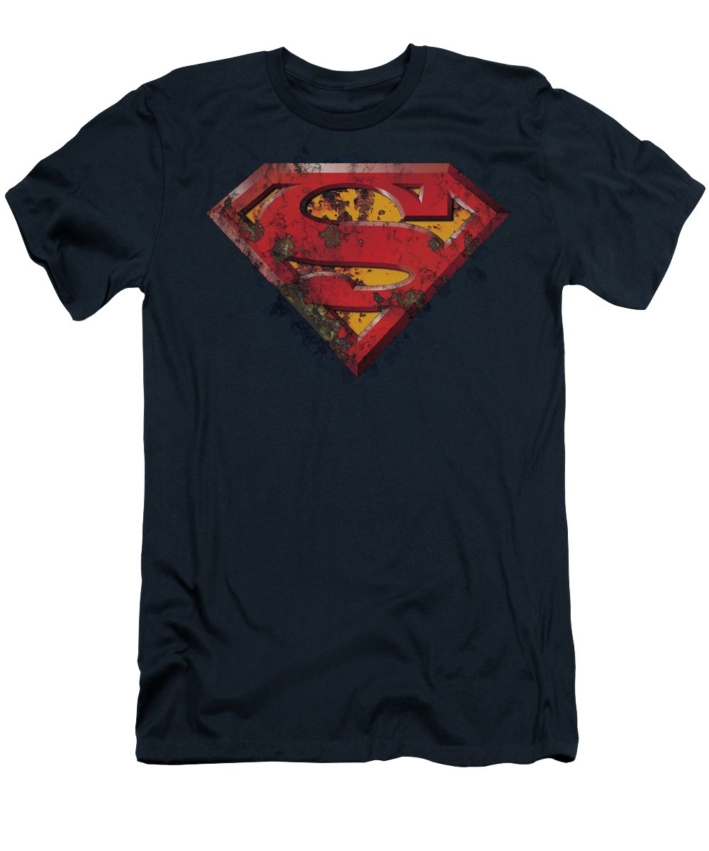Superman - Rusted Shield Men's T-Shirt (Athletic Fit)