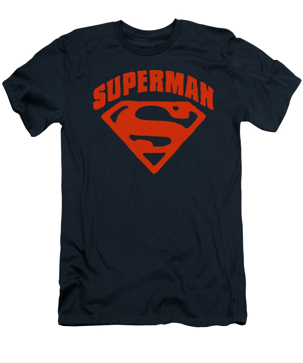 Superman T-Shirt featuring the digital art Superman - Super Shield by Brand A