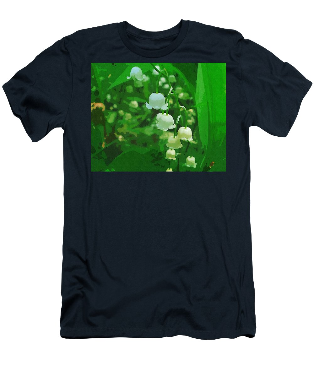 Landscape Men's T-Shirt (Athletic Fit) featuring the mixed media Sweet As Summer by Pepita Selles