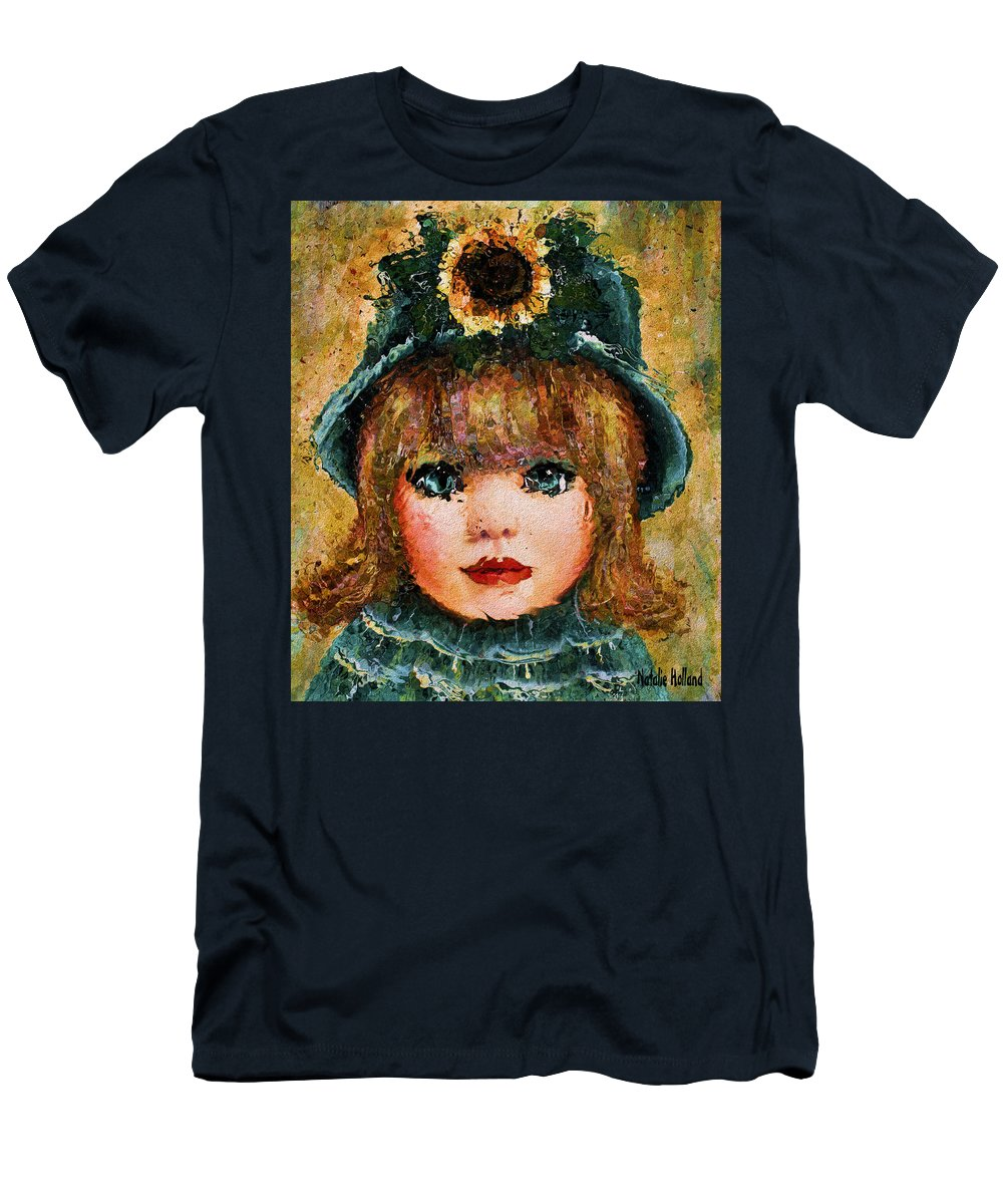 Little Girl Men's T-Shirt (Athletic Fit) featuring the painting Sweet Sunshine by Natalie Holland
