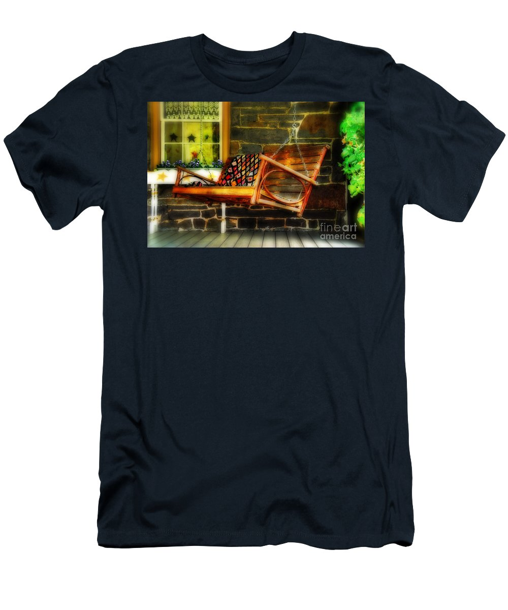 Swing Men's T-Shirt (Athletic Fit) featuring the photograph Swing Me by Lois Bryan