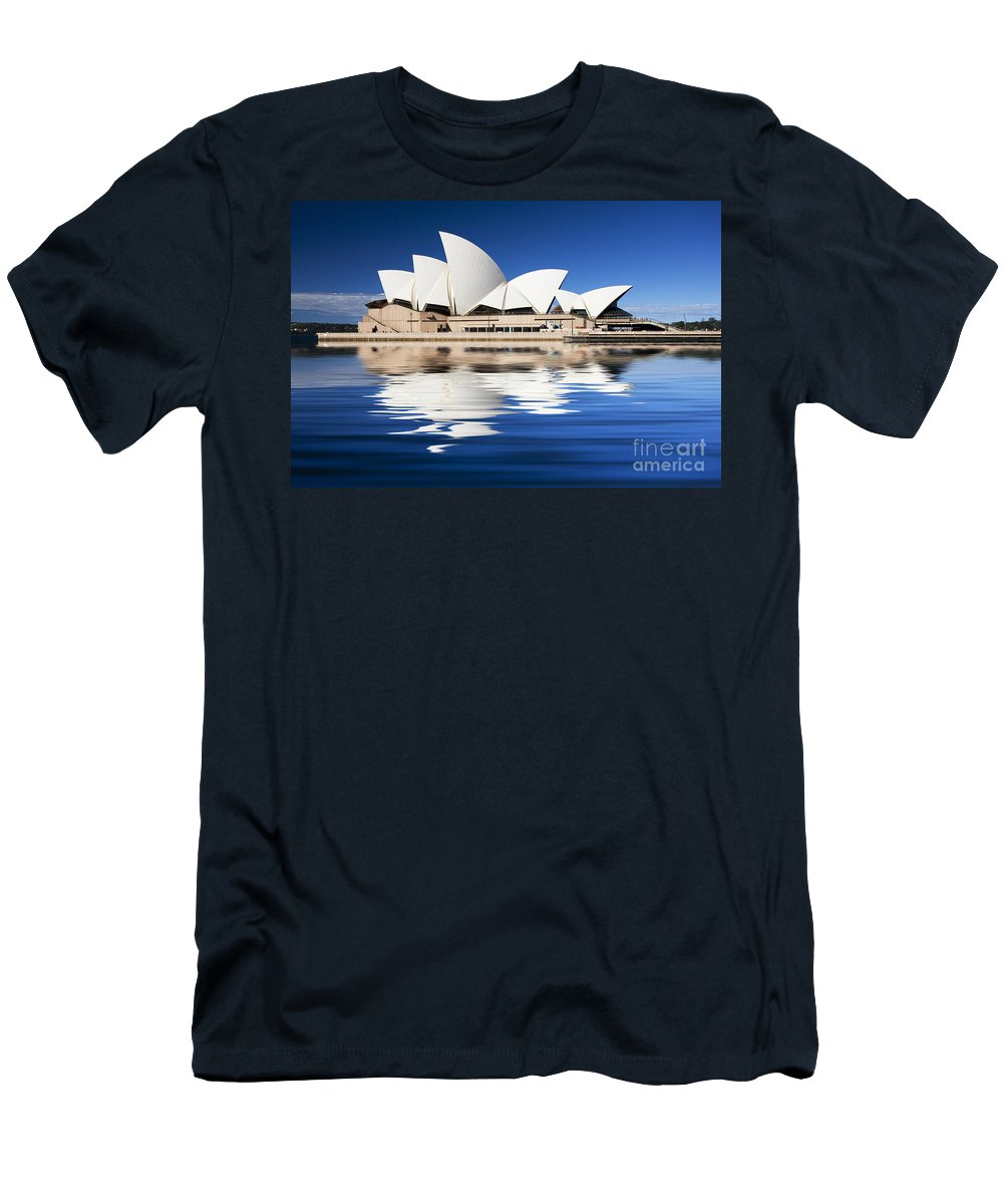 Sydney Opera House Men's T-Shirt (Athletic Fit) featuring the photograph Sydney Icon by Avalon Fine Art Photography
