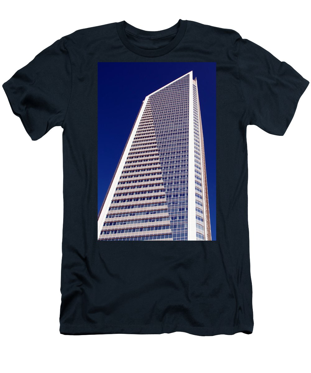Financial Men's T-Shirt (Athletic Fit) featuring the photograph Tall Highrise Building by Alex Grichenko