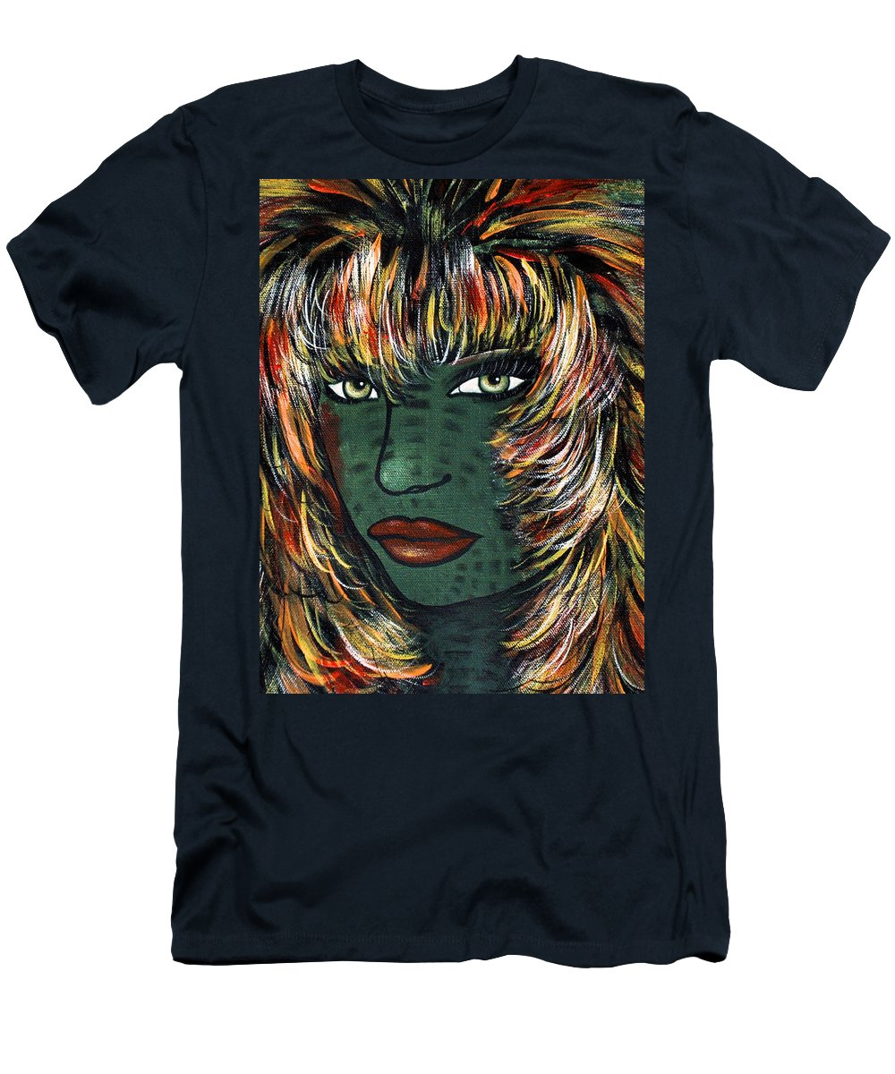 Woman Men's T-Shirt (Athletic Fit) featuring the painting Tattoo by Natalie Holland