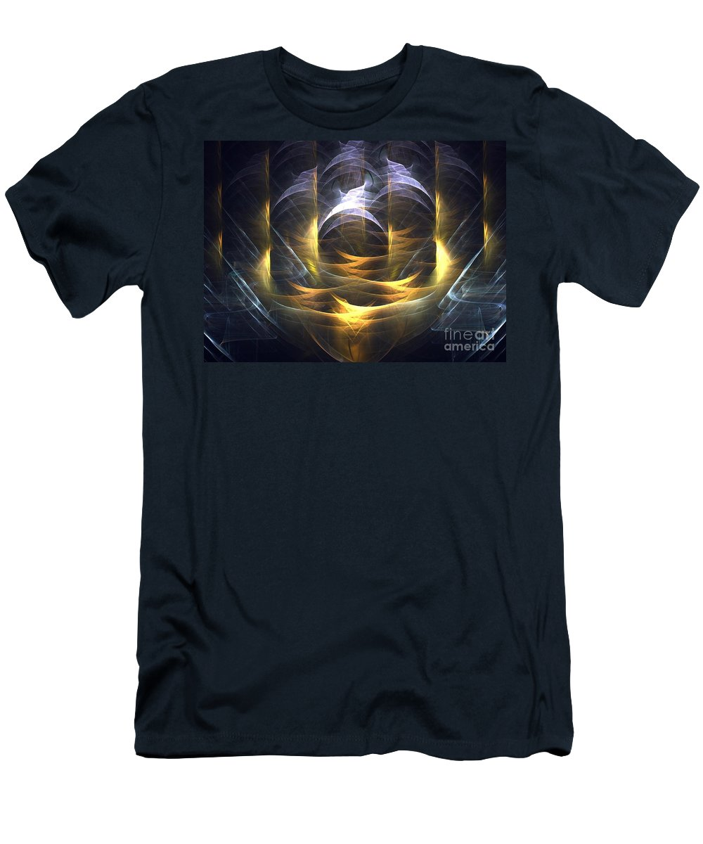 Apophysis Men's T-Shirt (Athletic Fit) featuring the digital art Temple by Kim Sy Ok