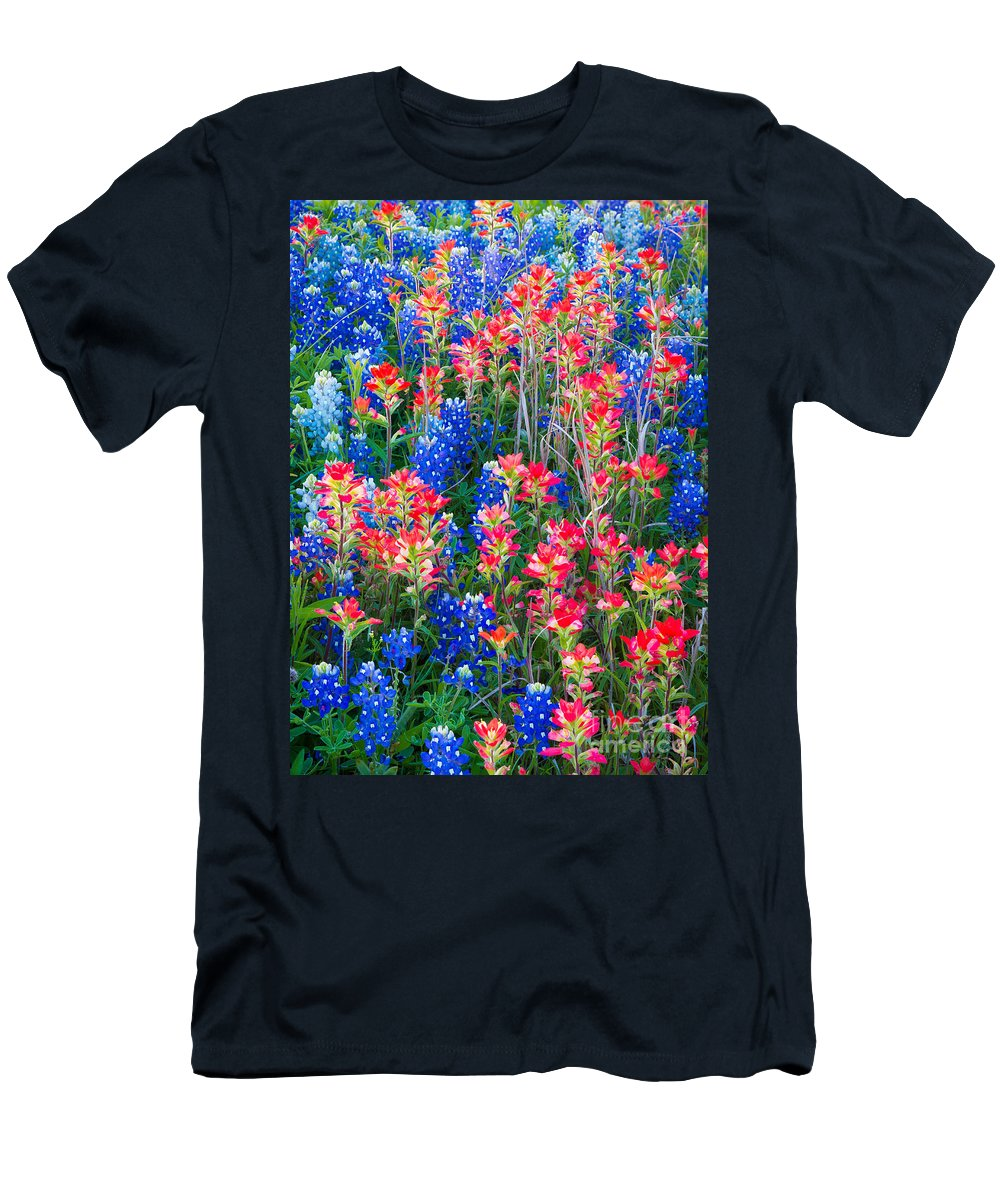 America T-Shirt featuring the photograph Texan Quilt by Inge Johnsson