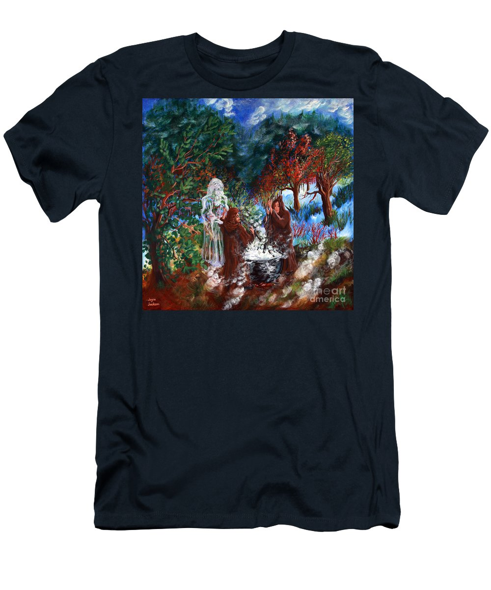 Spiritual Men's T-Shirt (Athletic Fit) featuring the painting The Alchemists by Joyce Jackson
