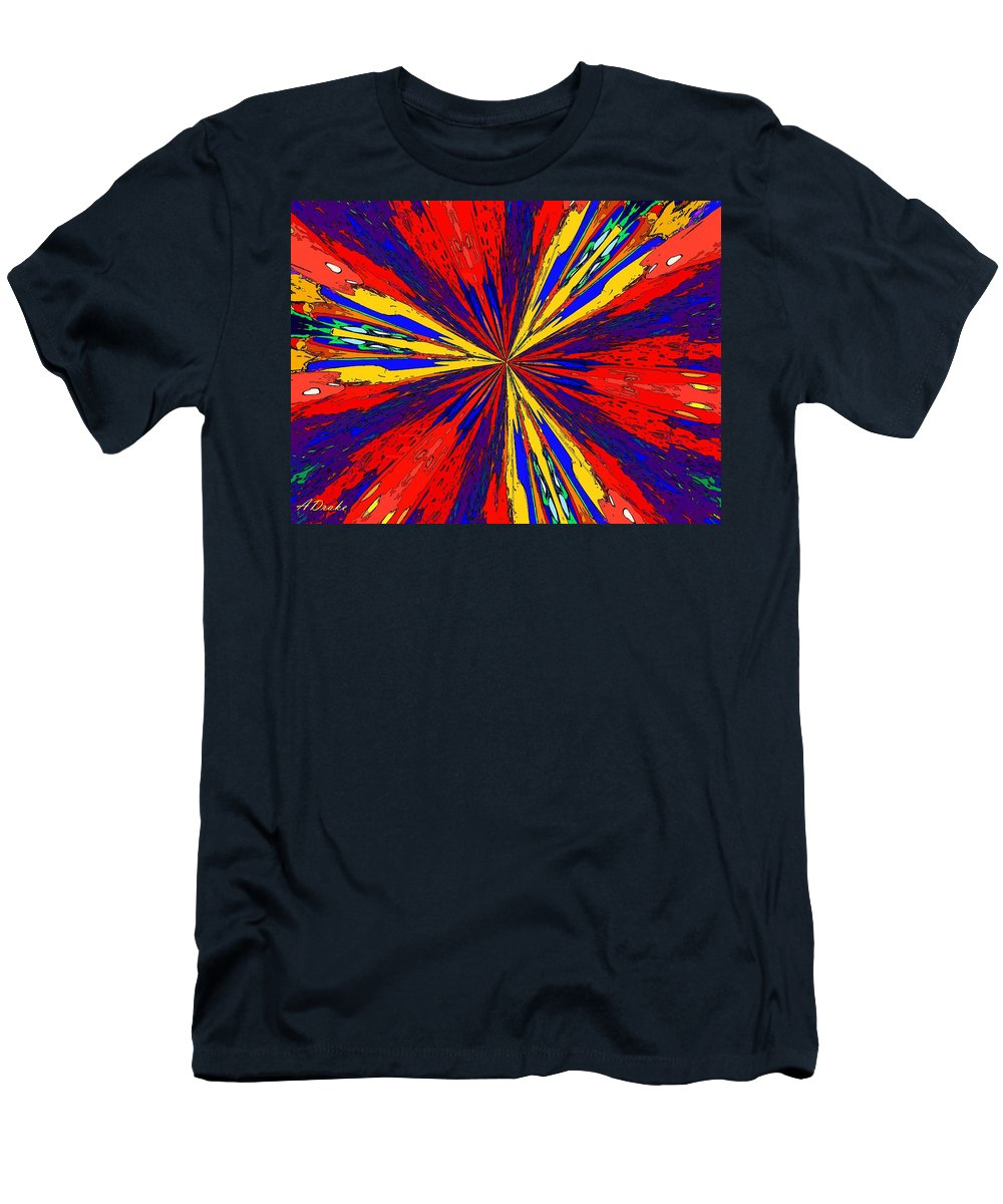 Arrival Men's T-Shirt (Athletic Fit) featuring the digital art The Arrival Of Colours by Alec Drake