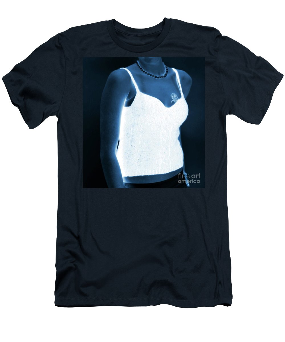 Tattoo Men's T-Shirt (Athletic Fit) featuring the photograph The Blue Lady by Kathleen Struckle