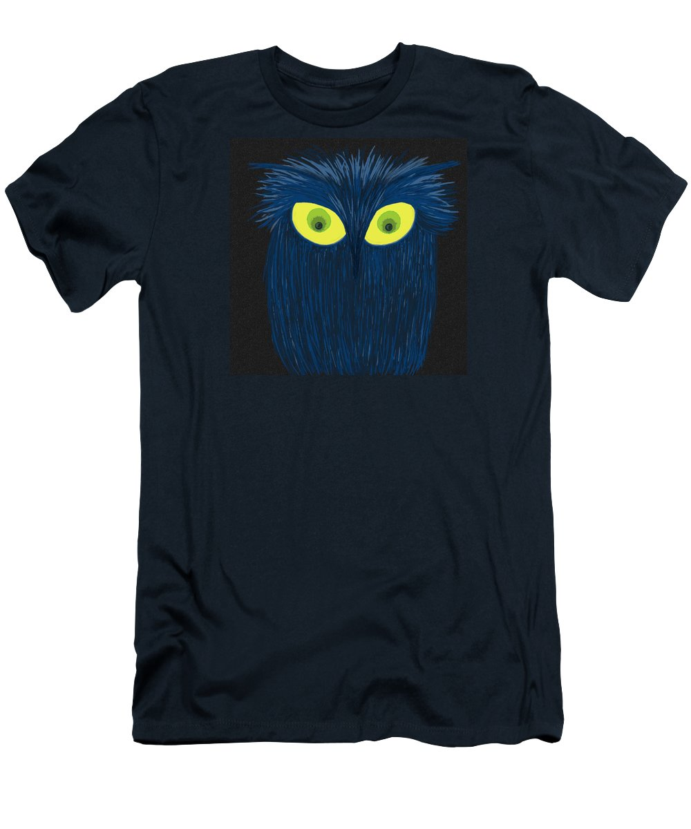 Owl Men's T-Shirt (Athletic Fit) featuring the digital art The Blue Owl by Michelle Brenmark