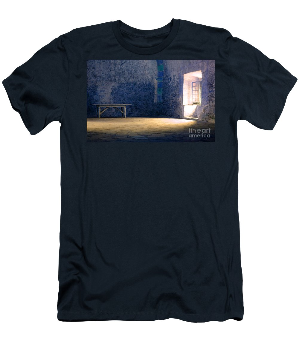 Blue Room Men's T-Shirt (Athletic Fit) featuring the photograph The Blue Room by Bob Christopher
