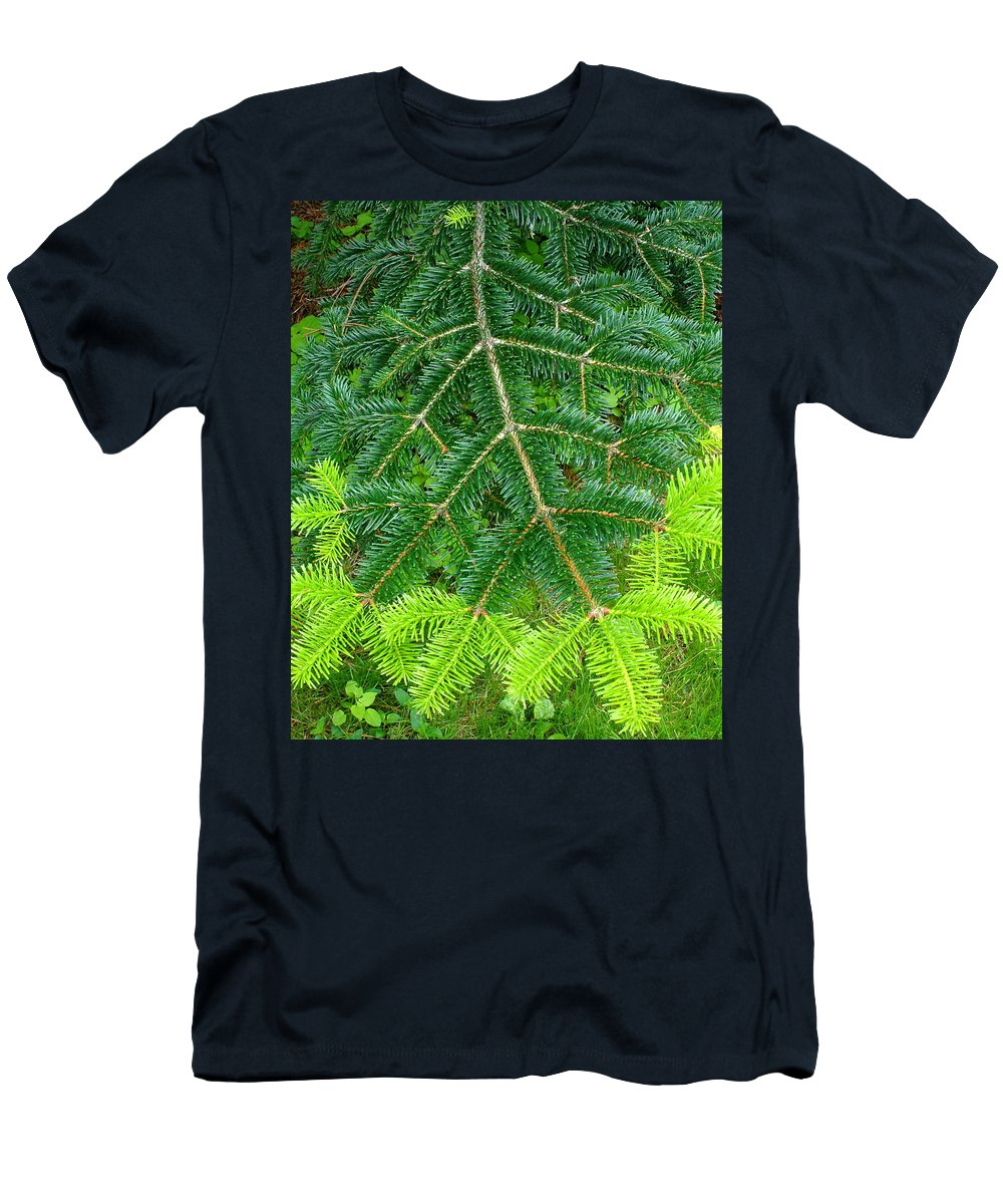 Trees Men's T-Shirt (Athletic Fit) featuring the photograph The Freshness Of New Growth Is A Thing Of Beauty And Wonder by Ben Upham III