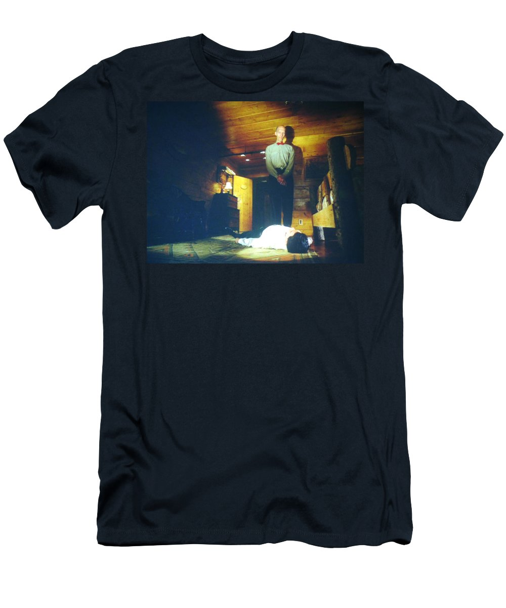 Laura Palmer Men's T-Shirt (Athletic Fit) featuring the painting The Owls Are Not What They Seem by Luis Ludzska